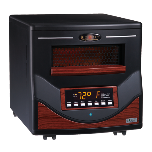 Portable infrared heaters vs electric fireplaces biosmart for Electric radiant heat efficiency