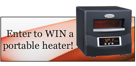 enter to win a BioSmart portable quartz infrared heater