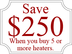 Save $300 on Heaters