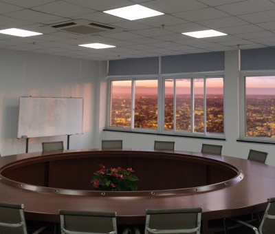 LED Panel lights installed in conference room