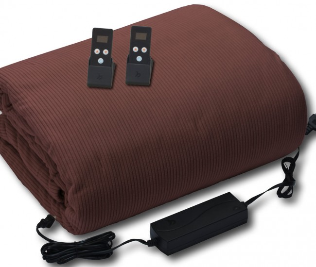 Infrared blanket. Size: King, Color: Mocha.